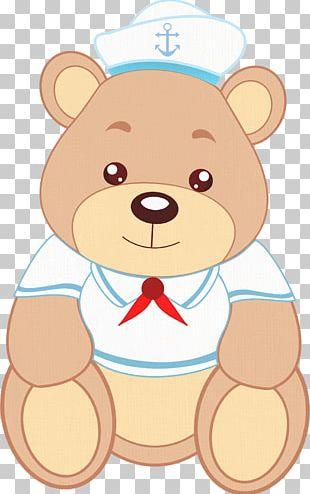 Brown Bear Sailor Baby Shower Giant Panda PNG
