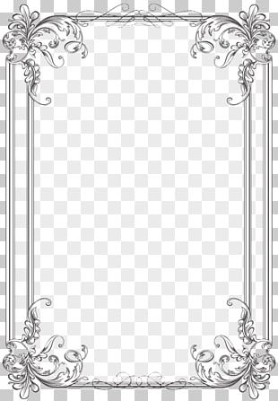 Borders And Frames Wedding Invitation Frames Microsoft Word PNG