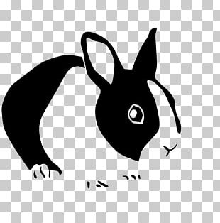 Netherland Dwarf Rabbit Stencil Wall Decal PNG