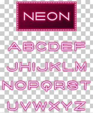 Neon Lighting Letter Case Font PNG