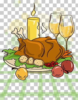 Turkey Pilgrim Thanksgiving Dinner Cartoon PNG