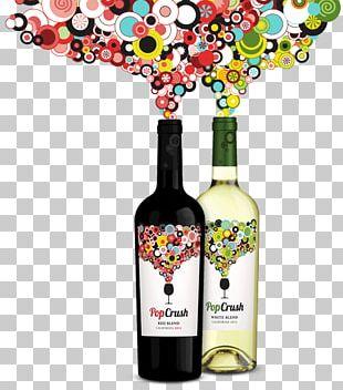 Liqueur Red Wine Glass Bottle PNG