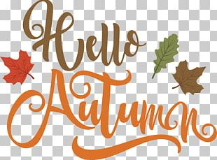 Autumn Handwriting Computer File PNG