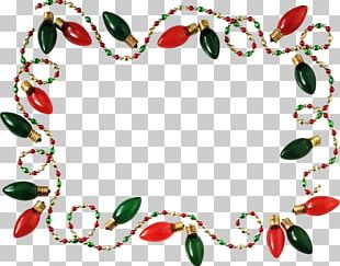 Christmas Lights Frames Christmas Decoration Photography PNG