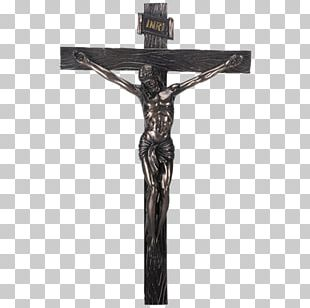 Crucifixion Of Jesus Christian Cross Bronze Wall PNG