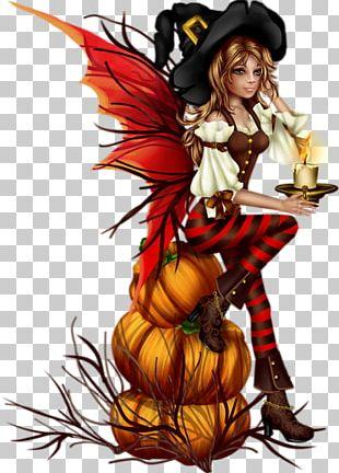 Boszorkány Halloween Fairy PNG
