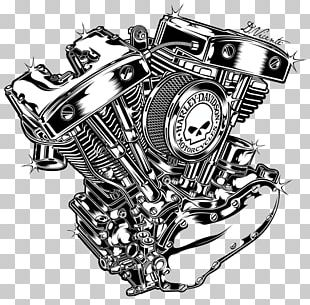 Motorcycle Engine V-twin Engine Harley-Davidson PNG