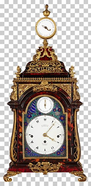 Bracket Clock Antique Mantel Clock Musical Clock PNG