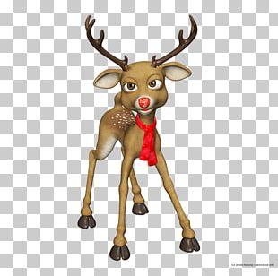 Rudolph Reindeer Santa Claus Christmas PNG