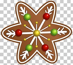 Icing Gingerbread House Christmas Cookie PNG