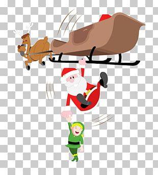 Santa Claus Reindeer Drawing Computer File PNG