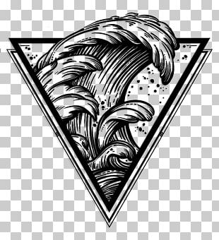 The Great Wave Off Kanagawa Drawing Wind Wave Line Art PNG