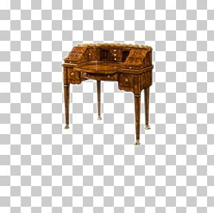 Table Desk Furniture Office Wood PNG