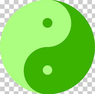 Yin And Yang Green Symbol PNG