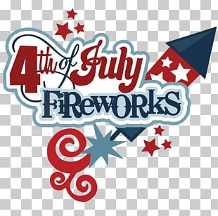 Happy Fourth Of July Rocket Fireworks Sticker PNG