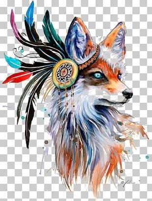 Fox Drawing Art Painting PNG