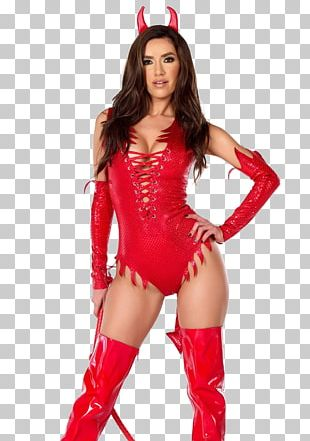 Halloween Costume Devil Woman Dress PNG
