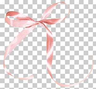 Ribbon Pink Shoelace Knot PNG