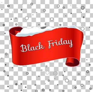 Black Friday Banner Snowflake Pattern PNG