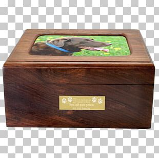 Wooden Box Urn Dog PNG