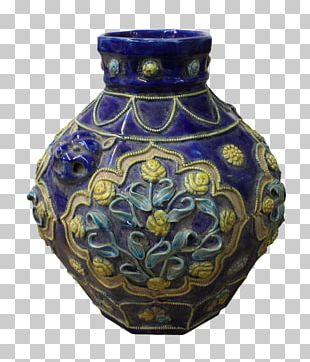 Vase Ceramic Pottery Cobalt Blue Urn PNG