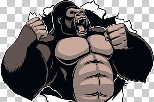 Gorilla King Kong Ape Cartoon PNG