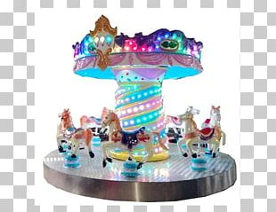 Flying Horse Carousel Amusement Park Swing Ride PNG