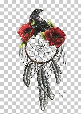 Dreamcatcher Bird Flower Tattoo Poppy PNG