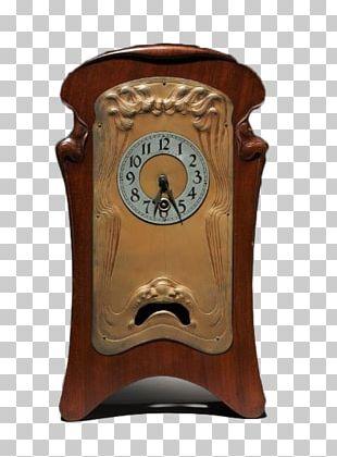 Mantel Clock Art Nouveau Art Deco PNG