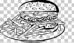 Hamburger French Fries Fast Food Take-out PNG