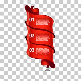 Red Infographic Euclidean Ribbon PNG