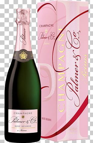 Champagne Palmer & Co Rosé Sparkling Wine PNG