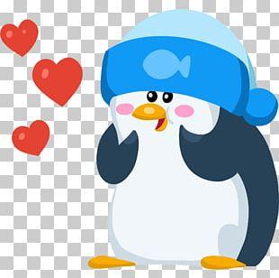 Penguin Telegram Sticker VK Facebook Messenger PNG