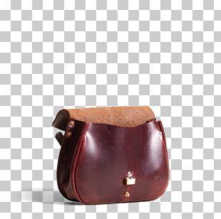 Handbag Leather Brown Coin Purse Caramel Color PNG