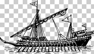 Brigantine Galleon Barque Ship Of The Line Caravel PNG