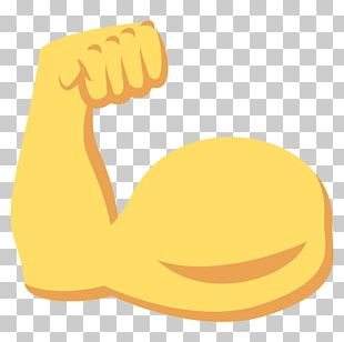 Emoji Biceps Muscle Arm Sticker PNG