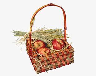 Fall Harvest Basket PNG
