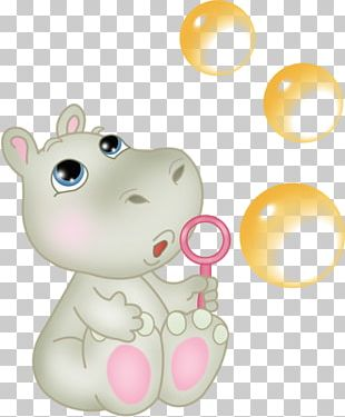 Baby Hippopotamus Cartoon PNG