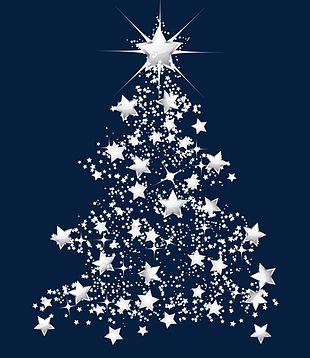 Christmas Tree Snowflake Stars PNG