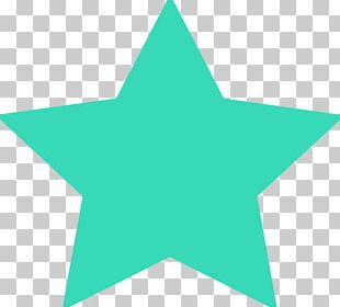 Turquoise Star Color PNG