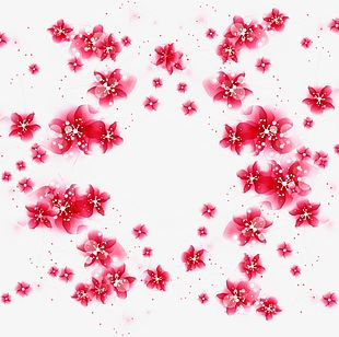 Red Flower Material PNG