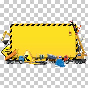 Architectural Engineering Heavy Equipment Illustration PNG
