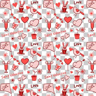 Pink Seamless Background Valentine's Day Element Material PNG