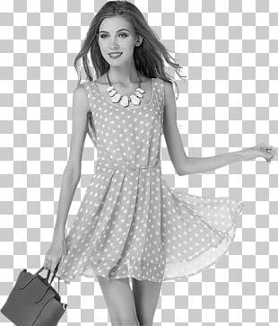 Polka Dot Dress Clothing Fashion Pink PNG
