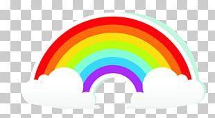 Rainbow Cartoon Cloud PNG