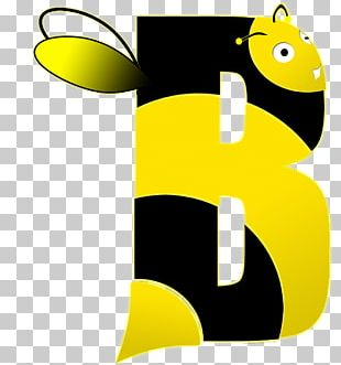 Western Honey Bee Letter Alphabet Spelling PNG