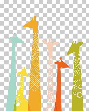 Giraffe Manor Color Illustration PNG