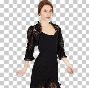 Little Black Dress Shrug Jacket Skirt PNG
