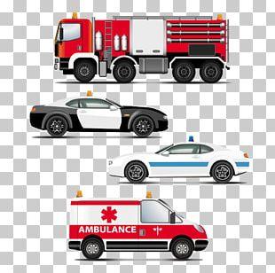 Police Car Ambulance PNG
