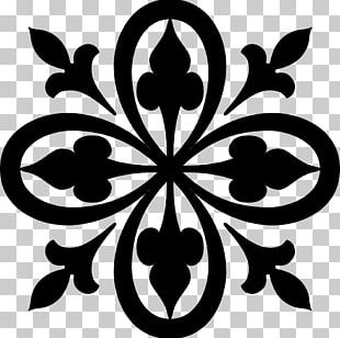 Stencil Wall Decal Arabesque Pattern PNG
